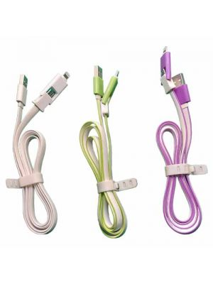Dual mobile charging cable Android and iPhone KC-010